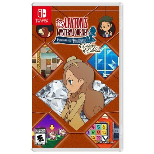 Игра для Nintendo Switch Layton\'s Mystery Journey: Katrielle and the Millionaires\' Conspiracy Deluxe Edition
