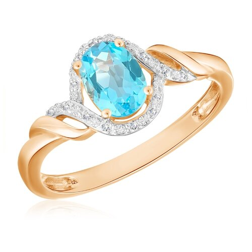 Бронницкий Ювелир Кольцо из красного золота R01-D-1983089AB-R17, размер 17 бронницкий ювелир кольцо из красного золота r01 d 1983089ab r17 размер 17