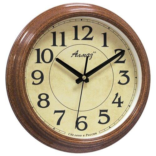Часы настенные кварцевые Алмаз A94 рыжий/бежевый часы настенные кварцевые алмаз a53 бежевый белый
