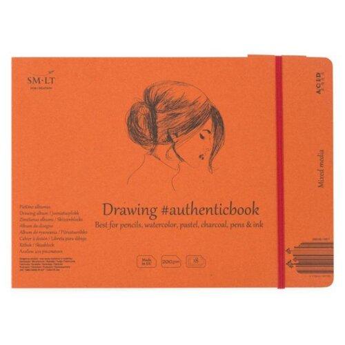 Купить Альбом для смешанных техник Smiltainis Mixed media album Authentic 24.5 х 17.6 см, 200 г/м², 18 л., Альбомы для рисования