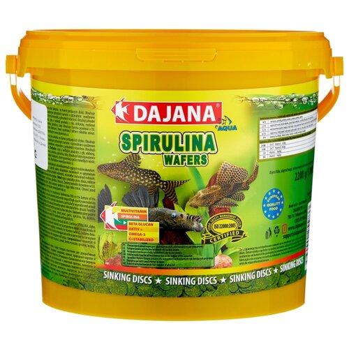 Сухой корм для рыб Dajana Pet Spirulina Wafers 5000 мл 2200 г