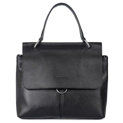 Сумка сэтчел Afina, натуральная кожа, черный сумка afina сумка