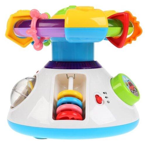 Интерактивная развивающая игрушка Умка Обучающий центр с проектором, белый/голубой