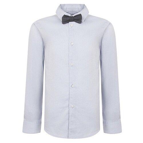 рубашка для мальчика mayoral цвет молочный 3144 35 5h размер 116 6 лет Рубашка Mayoral размер 116, голубой