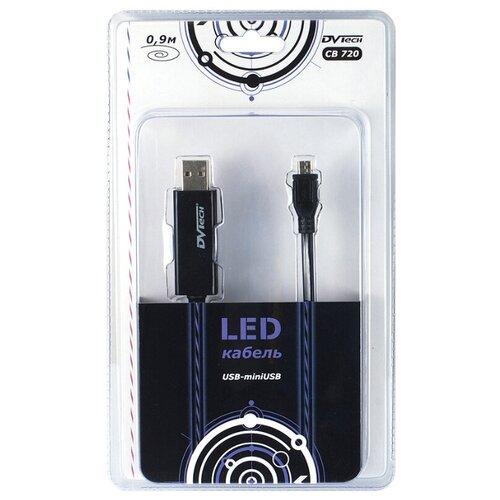 Кабель LED USB-mini USB 2.0 0.9м DVTech CB720