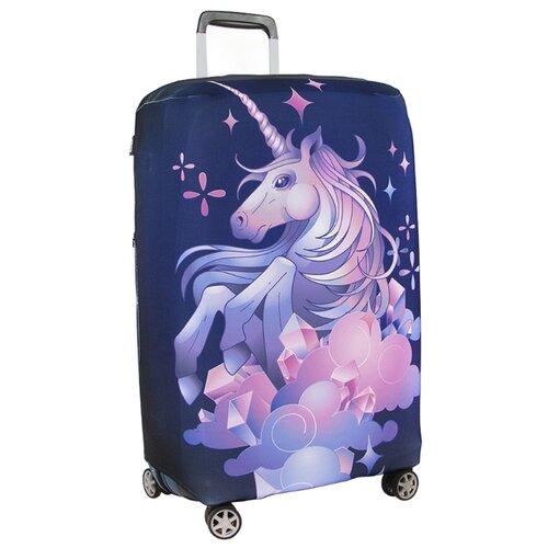цена Чехол для чемодана RATEL Animal Unicorn M, синий/фиолетовый онлайн в 2017 году