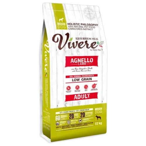 Сухой корм для собак Vivere ягненок 12 кг (для средних пород)