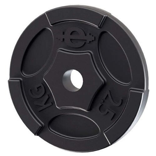 Диск Euro classic чугунный окрашенный d-26 мм 2.5 кг черный