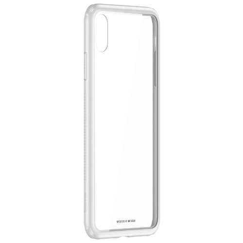 Чехол-накладка Baseus See-through glass protective case для Apple iPhone Xs Max white white see through gold silk cotton crop top