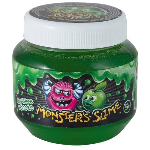 Купить Лизун Monster's Slime Классический большой с ароматом яблока сочное яблоко, Игрушки-антистресс