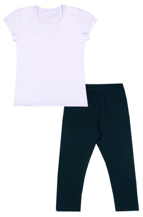 Спортивный костюм Апрель размер 134-68, белый/темно-синий