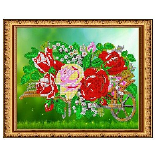Светлица Набор для вышивания бисером Розы 38 х 30 см (375)