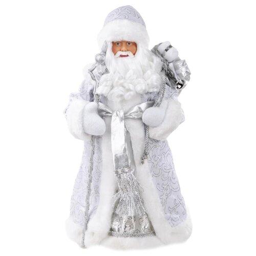 Фигурка Феникс Present Дед мороз с поясом 41 см серебряный