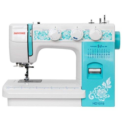 Швейная машина Janome HD1019, белый/бирюзовый швейная машина janome el 545s