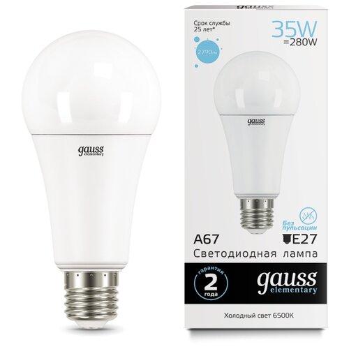 цена Лампа светодиодная gauss 70235, E27, A67, 35Вт онлайн в 2017 году