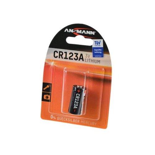 Батарейка ANSMANN CR123A 1 шт блистер батарейка ansmann cr2025 1 шт блистер