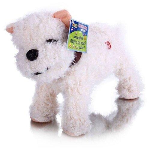 Купить Мягкая игрушка Mioshi Active Весёлый щенок MAC0601-006 белый, Роботы и трансформеры
