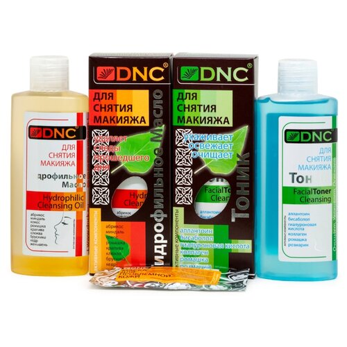 Купить Набор: DNC Гидрофильное масло 170 мл, Тоник для снятия макияжа 170 мл и Подарок Маска для лица 15 мл