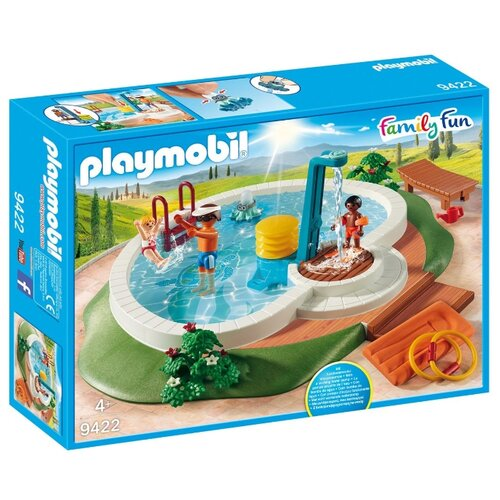 Купить Набор с элементами конструктора Playmobil Family Fun 9422 Бассейн, Конструкторы