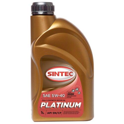 Синтетическое моторное масло SINTEC PLATINUM 5W-40 1 л синтетическое моторное масло starkraft leo 5w 40 s 1 л