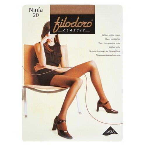 Колготки Filodoro Classic Ninfa 20 den, размер 2-S, playa (бежевый) колготки filodoro classic ninfa 40 den размер 5 xl playa бежевый