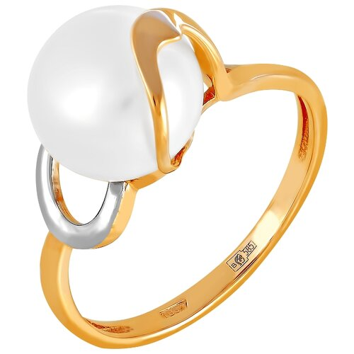 Фото - ПримаЭксклюзив Кольцо с 1 жемчугом из красного золота 190-1-763Р, размер 17 примаэксклюзив кольцо с 1 жемчугом из красного золота 190 1 921р размер 17