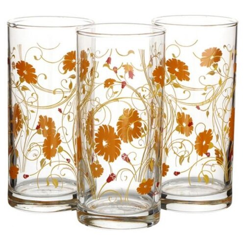 Pasabahce Набор стаканов Serenade 287 мл 3 шт оранжевый
