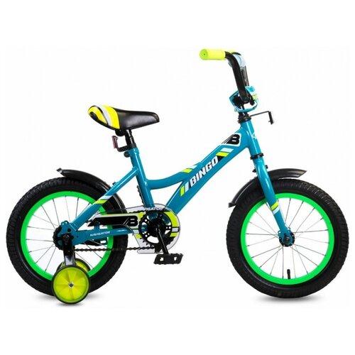 Детский велосипед Navigator Bingo (ВМ14190/ВМ14191) синий/зеленый/желтый (требует финальной сборки) велосипед детский navigator вн20214 basic