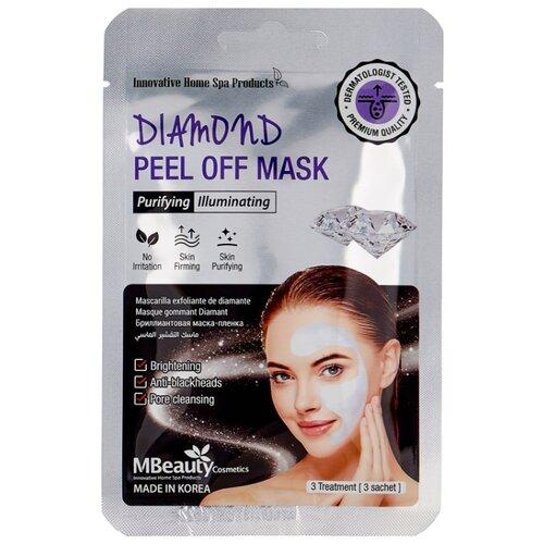 Фото - Mbeauty Diamond peel off mask маска-пленка с бриллиантовой пудрой для очищения пор, 7 г, 3 шт. маска пленка для лица с бриллиантовой пудрой diamond peel off mask 3 7г