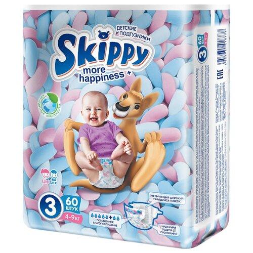 Skippy подгузники More Happiness+ 3 (4-9 кг) 60 шт..