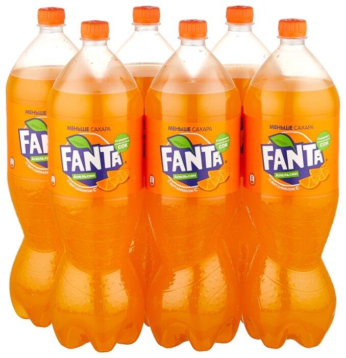 Купить Газированный напиток Fanta, 2 л, 6 шт. по низкой цене с доставкой из Яндекс.Маркета