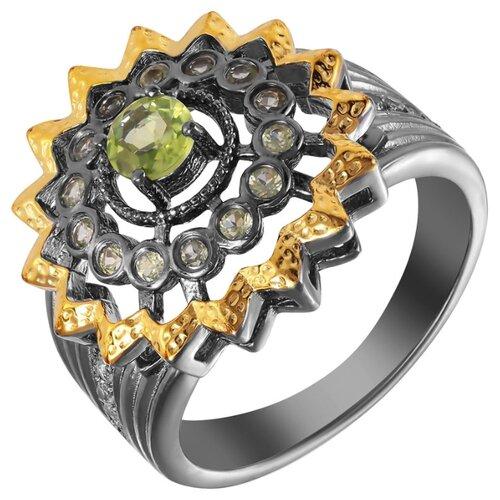ELEMENT47 Кольцо из серебра 925 пробы с перидотами YR0158_KO_PD_002_BJ, размер 16.5