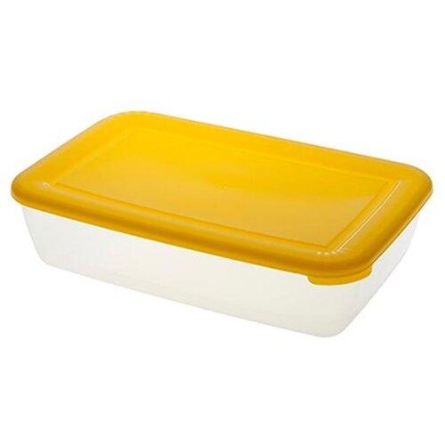 ПОЛИМЕРБЫТ Контейнер Лайт для СВЧ 3 л. прозрачный/желтый контейнер для свч полимербыт spring time 1 1 л