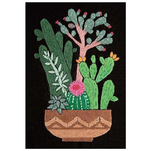 Купить PANNA Набор для вышивания Кактусы в горшке 17 х 12.5 см (JK-2134), Наборы для вышивания