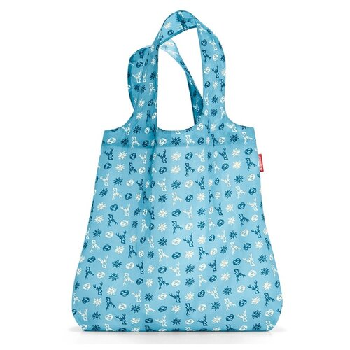 Сумка reisenthel Mini maxi shopper bavaria denim AT4060, текстиль, голубой