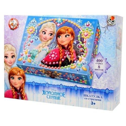 Купить Десятое королевство Набор для творчества Шкатулка со стразами Холодное сердце (01989), Поделки и аппликации