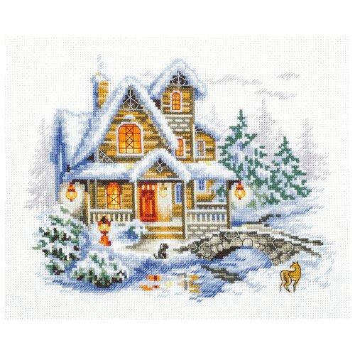 Купить Чудесная Игла Набор для вышивания Зимний коттедж, 20 x 17 см (110-042), Наборы для вышивания