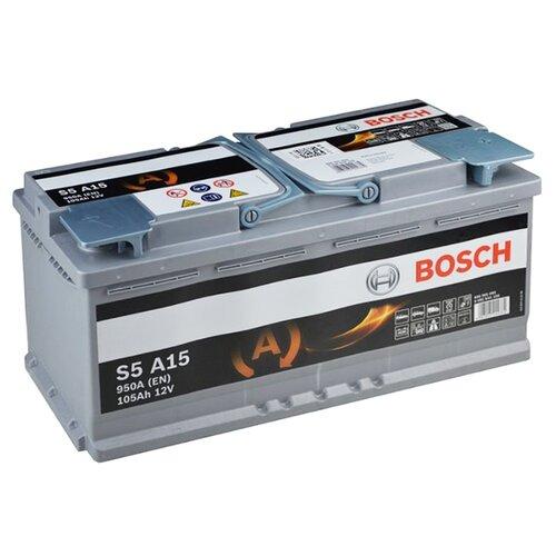 Аккумулятор Bosch S5 A15 AGM (0 092 S5A 150) углошлифмашина bosch gws 15 150 cih 0 601 830 522