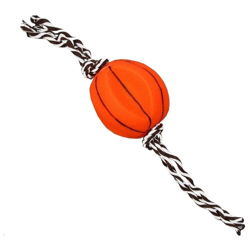 Мячик для собак Пижон Баскетбольный мяч (3281346) оранжевый/коричневый