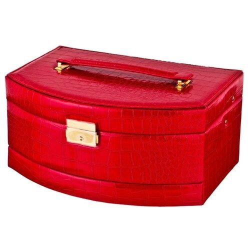 цена Lefard Шкатулка для украшений, 362-110 красный онлайн в 2017 году
