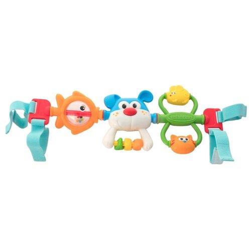 Купить Подвесная игрушка Infantino Крути и хватай (216273) оранжевый/зеленый/голубой, Подвески