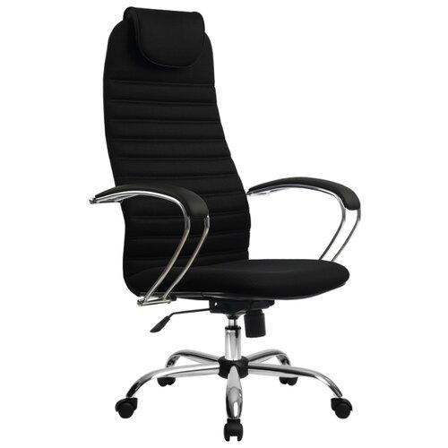 Компьютерное кресло Метта BK-10 Ch офисное, обивка: текстиль, цвет: 20-Черный компьютерное кресло метта bp 2 pl офисное обивка натуральная кожа цвет 721 черный