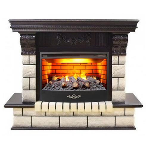 Электрический камин RealFlame Gracia 24/25,5 + Firestar 25,5 3D античный дуб электрический камин realflame kellie 25 5 26 firestar 25 5 3d белый камень