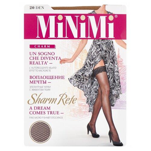 цена Чулки MiNiMi Sharm Rete 20 den, размер 2-S/M, daino (коричневый) онлайн в 2017 году