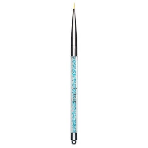 Купить Кисть для дизайна хрусталь 00 Pole голубой