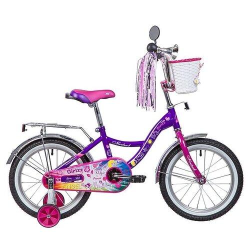 Детский велосипед Novatrack Little Girlzz 16 (2019) фиолетовый (требует финальной сборки)
