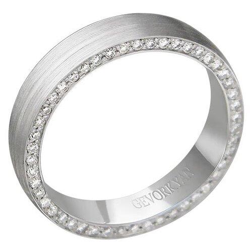 Эстет Кольцо с 48 бриллиантами из белого золота 01О620375, размер 18