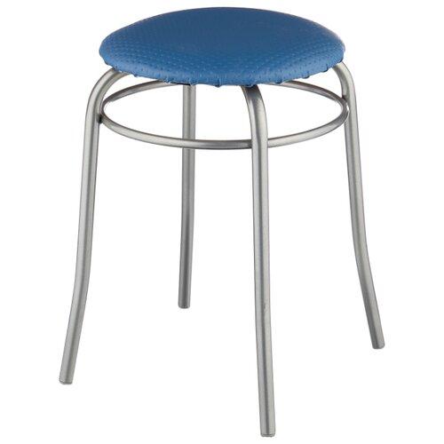 Табурет Nika (ТПР1), металл/искусственная кожа, цвет: голубой