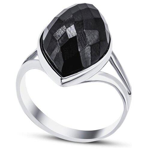 Silver WINGS Кольцо с ониксами из серебра 210024-70-257, размер 17