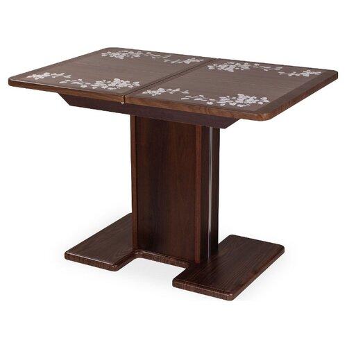 Стол кухонный Домотека Каппа ПР 05, раскладной, ДхШ: 104 х 72 см, длина в разложенном виде: 141 см, ВП/ОР пл-44 орех 05 ОР/ОР орех и брамс 9 песен ор 69